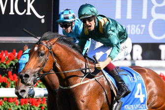 After winning the Sires Produce Stakes for half the prizemoney, King's Legacy is favourite for the Champagne Stakes, which had its stakes cut by $100,000 on Sunday