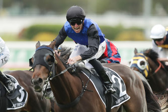 Shadow Hero powers away in the Spring Champion Stakes.