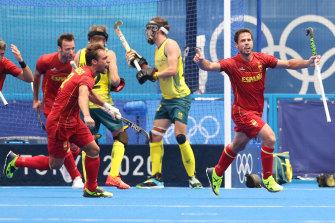 Pau Quemada Cadafalch celebra su empate con España ante Australia.