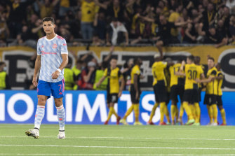 A dejected Cristiano Ronaldo following Young Boys' late Champions League winner in Bern.