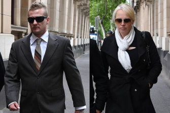 Dale Ewins and Zita Suykys leave the Supreme Court on Wednesday.