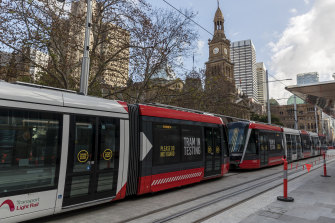 Sydney's new 67-metre trams are among the longest in the world.