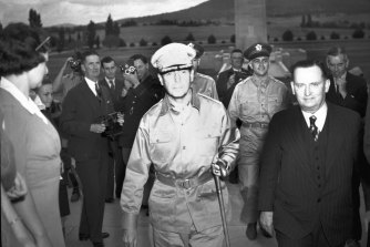 General Douglas Macarthur in Canberra on March 26, 1942