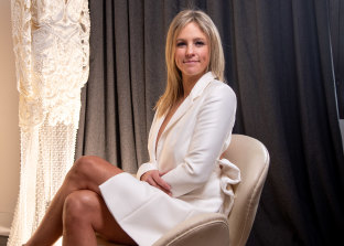 Melbourne-based Helen O'Connor, of Thurley, pictured in her Fitzroy studio, launched her eponymous bridal collection in June.