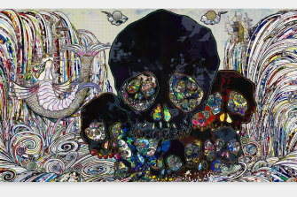 Takashi Murakami's In the Land of the Dead, Stepping on the Tail of a Rainbow, 2014.