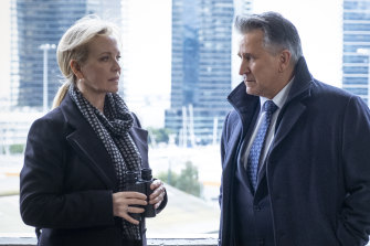 Rebecca Gibney and Anthony LaPaglia in Halifax: Retribution.