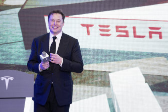 Tesla, led by its chief executive Elon Musk, is proving to be a huge hit with Australian investors.
