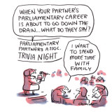 At the Parliamentary Partners Association. Illustration: Matt Golding