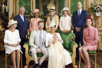 The christening was a very royal affair.