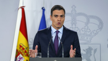 Spain's Prime Minister Pedro Sanchez maintains a tenuous grip on power,  heading a minority government.