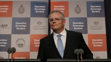 Then-Immigration Minister Scott Morrison in January 2014.