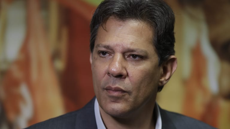 Fernando Haddad replaced former president Luis Inacio Lula da Silva, now jailed, as presidential candidate for the Workers' Party.