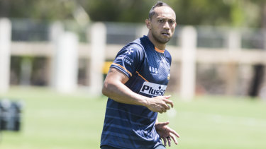 Brumbies co-captain Christian Lealiifano at training on Thursday.