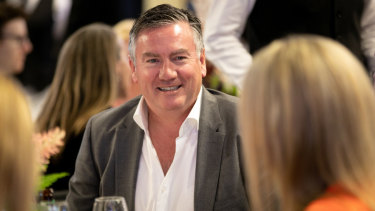 Eddie McGuire at Wintour's brunch.