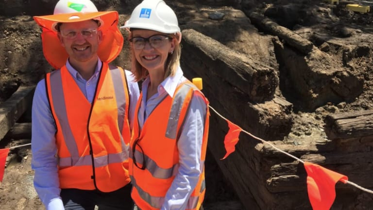 Kingsford Smith Drive project director David Balmer with Brisbane City Council's infrastructure committee chair Cr Amanda Cooper.