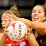 Giants upset Swifts in frantic derby to move joint top of the ladder