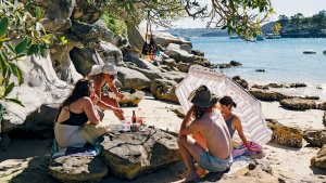 Collins Flat Beach is hidden away between Manly Cove and North Head Beach.