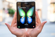 It turns out the butterfly, beautiful and delicate, may have been the perfect choice of logo for the Galaxy Fold.