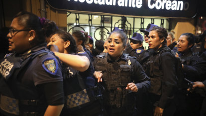 Mexico City assesses damage after feminist 'glitter protests' turn violent