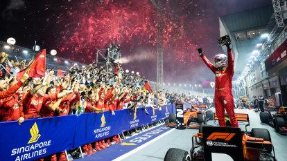 Vettel breaks Formula One drought to win the Singapore Grand Prix