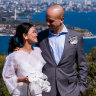 'We wasted no time': Sydney couples rush to get married as restrictions ease