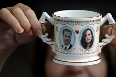 Prince William and Kate Middleton commemorative cup.