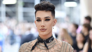 James Charles attends this year's Met Gala.