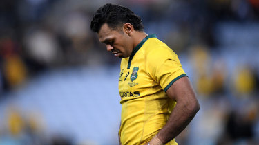 Disappointed: Kurtley Beale after the Bledisloe Cup loss on August 18.