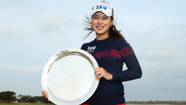 Down to the wire: South Korea's Hee-young Park took out the women's VicOpen title after a three-way playoff.