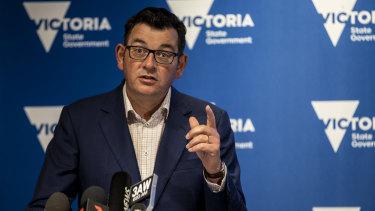 Victorian Premier Daniel Andrews announces the five-day Melbourne lockdown.