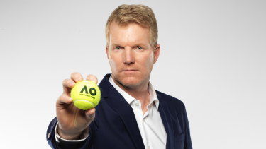 Former world No. 1 tennis player Jim Courier is part of the Nine Network's Australian Open commentary team.