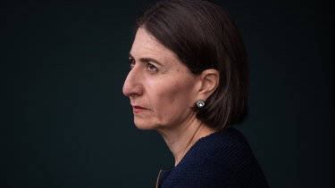 NSW Premier Gladys Berejiklian speaks to the media on Friday.