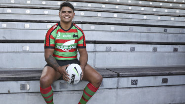 Latrell Mitchell was in the headlines over the summer after deciding to leave the Sydney Roosters to join South Sydney.