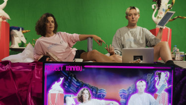 Harriet Gillies and Xanthe Dobbie, creators of a new digital theatre piece Pleasuredome.