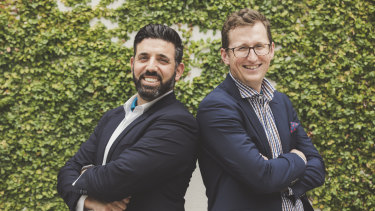 Michael Caggiano, left, and Bede Gahan have been part of the Canberra bid process.
