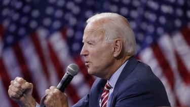 Former Vice President and Democratic presidential candidate Joe Biden.