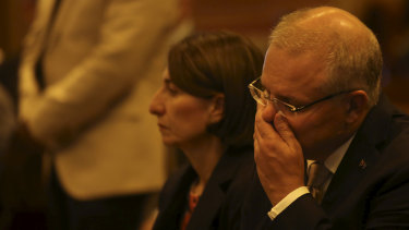 Scott Morrison was among the gathering at an interfaith service at Sydney's St Mary's Cathedral on Sunday.