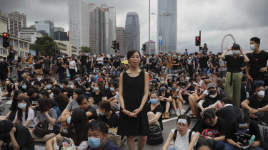 Protesters have called for Hong Kong Chief Executive Carrie Lam to stand down.