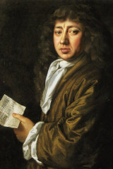 Samuel Pepys, painted in 1666 by John Hayls, carried on with his usual routine during the plague in London.