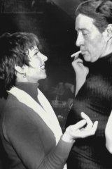 Liza Minnelli and Halston at Studio 54 in  1978.