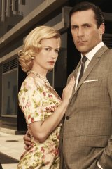 Betty Draper (left, played by January Jones) had a... unique parenting style in Mad Men.