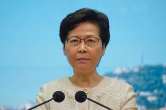 Hong Kong Chief Executive Carrie Lam.