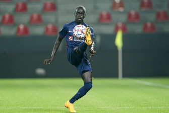 Awer Mabil is the only Socceroo in this season's UEFA Champions League.