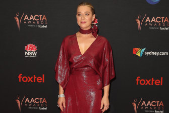 Asher Keddie on the red carpet at the 2019 AACTA Awards on Wednesday.