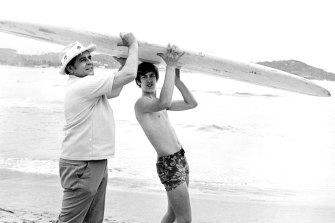 Karel Franc and his son, October 10, 1969.