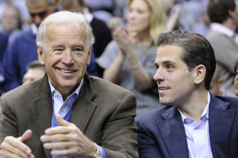 Former vice-president Joe Biden and his son, Hunter.
