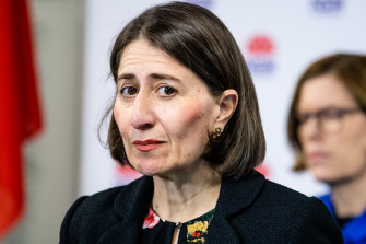 Premier Gladys Berejiklian said she raised with her Queensland counterpart concerns that healthcare workers should be able to travel more freely across the border