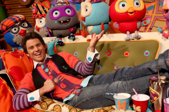 Jimmy Rees as Jimmy Giggle in the popular ABC Kids program, Giggle and Hoot.