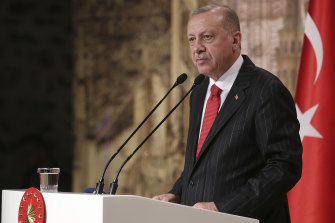 """During a press conference in October, Erdogan said there was mutual """"love and respect"""" between he and Trump, despite recent disagreements over the Syria conflict."""