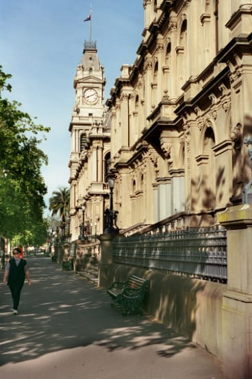 Bendigo's historic courts and post office building.